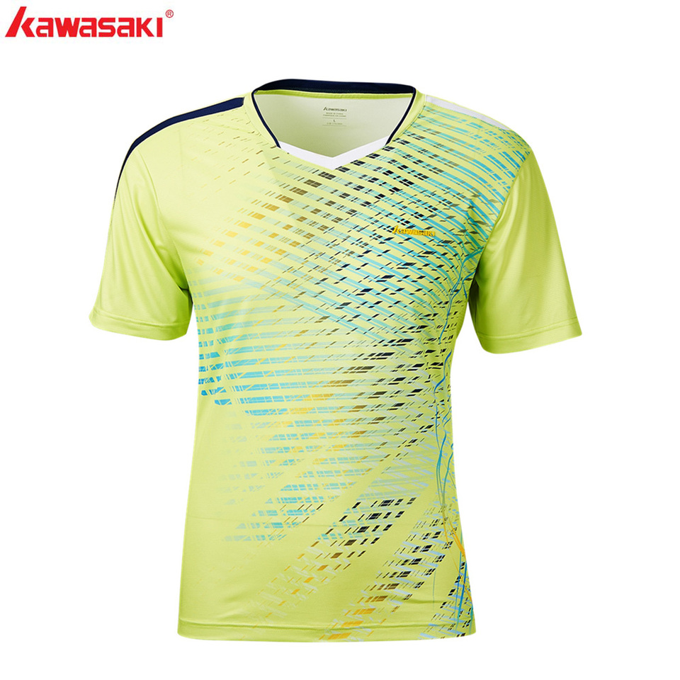 best sneakers 9aaee 7e804 KAWASAKI Clothing Men Badminton T-Shirts Table Breathable Quick Dry Tennis  Shirt Sportswear jersey psg 2019 ST-S1112 ST-S1121