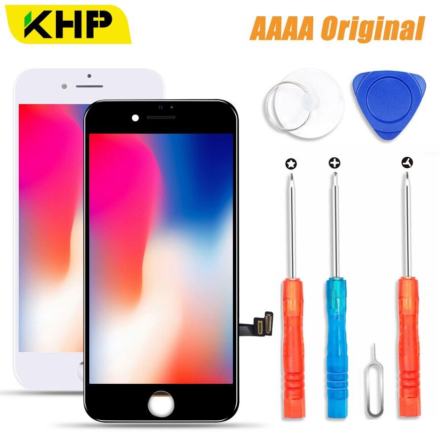 2018 KHP 100% AAAA Original pantalla LCD para iPhone 7 Plus pantalla LCD pantalla táctil digitalizador Módulo 7 pantallas de LCD