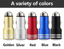 Pure Metal Safety Hammer 2.1A Car-Charger For Huawei P8 Lite Honor 7 6 9 Ascend P7 P6 P9 Mate 8 7 & Other Phone USB Car Charger