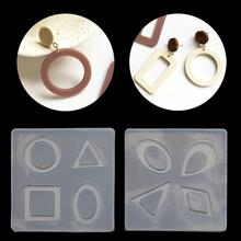 Trendy Silicone Acrylic Earring Necklace Pendant Mold Resin Casting Jewelry Making