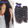 Wet and wavy Indian hair bundles with closure free part water wave closure with Indian virgin human hair Rosa hair products