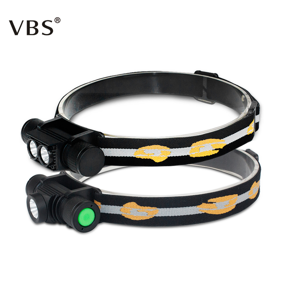 Headlamp T6 Flashlight Head Lamp 6-Mode Dimming Head Lamp Led Waterproof 18650 Battery D10 D25 USB Rechargeable Head Torch