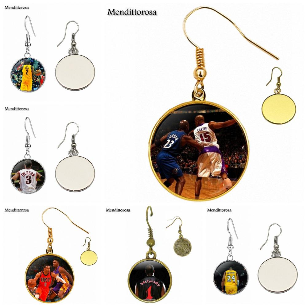 For Schoolgirl Maxi Bronze/Silver/Golden Clip Ear Hook Drop Earrings Russell Westbrook Vince Carter Kerry
