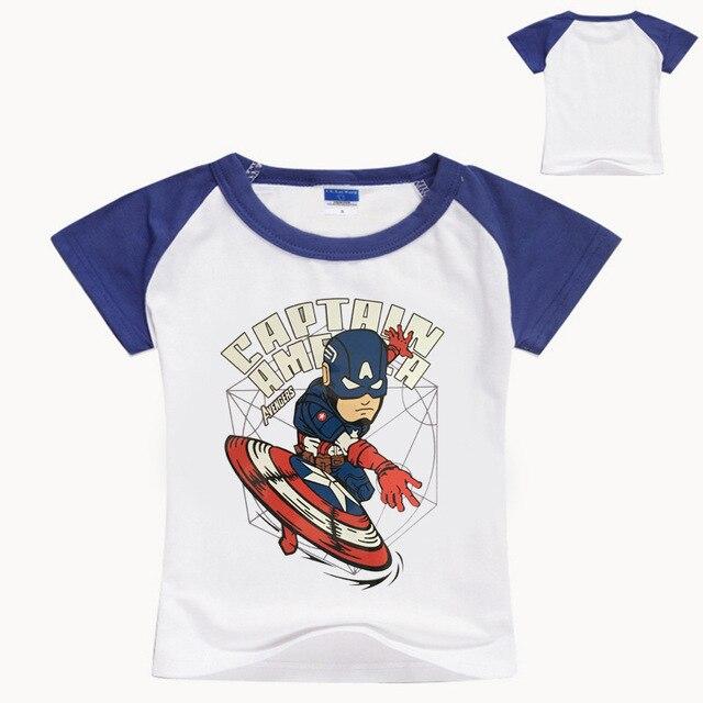 d47457dc Z&Y 3-16Years Summer Avengers T Shirt Captain America Clothes Boys Shirts  Kids Printed Tee Shirts Short Sleeves Tops Nova NO7164