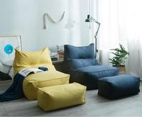 Lazy Sofa Floor Chair Bean Bags Comfortable Mini Sofa Soft Floor Cushion Lazy Sofa with Footstool EPP Particles Beanbag Lounge