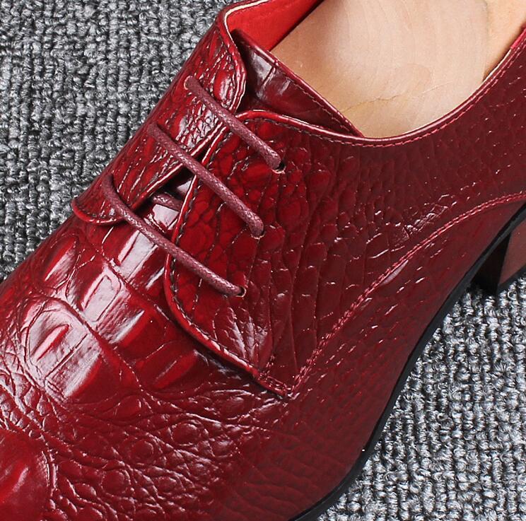 De Mariage wine Black brown Tan Red Bureau Hommes Formelle Haute Chaussures Robe Alligator Crocodile Talon Ascenseur Snakeski Richelieus BadYxYq
