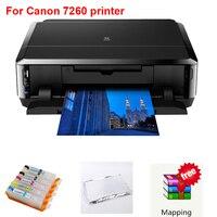 עבור Canon 7260 מדפסת מדפסת דיו אכיל wifi הווה DIY/digitai עוגה/סוכרייה על מקל/עוגה/מכונת דפוס