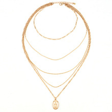 5 Pcs/ Set Multi-Layered Cross Necklace