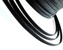 8mm Dia General Wire Protection Black PET Nylon Braided Cable Sleeve