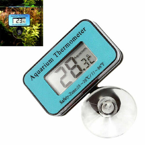 Digital LCD Fish Aquarium Marine Vivarium Hygrometer Thermometer -50°C To 70°C