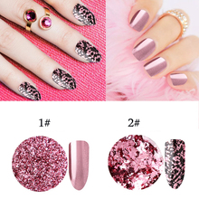 цена 3pcs/lot Nail Glitter Powder Shining Nail Art Chrome Pigment Nail Decoration Rose Gold Color Magic Mirror Nails Glitter Powder