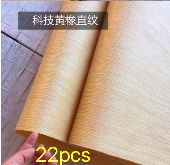 22PCS/LOT. L:2.5Meter  Width:60cm  Thickness:0.25mm  Technology Straight Grain Yellow Oak Bark Wood Veneer