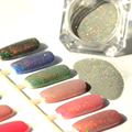 1.5g/Box Holographic Laser Powder Nail Glitter Rainbow Manicure Chrome Pigments Holographic Glitter