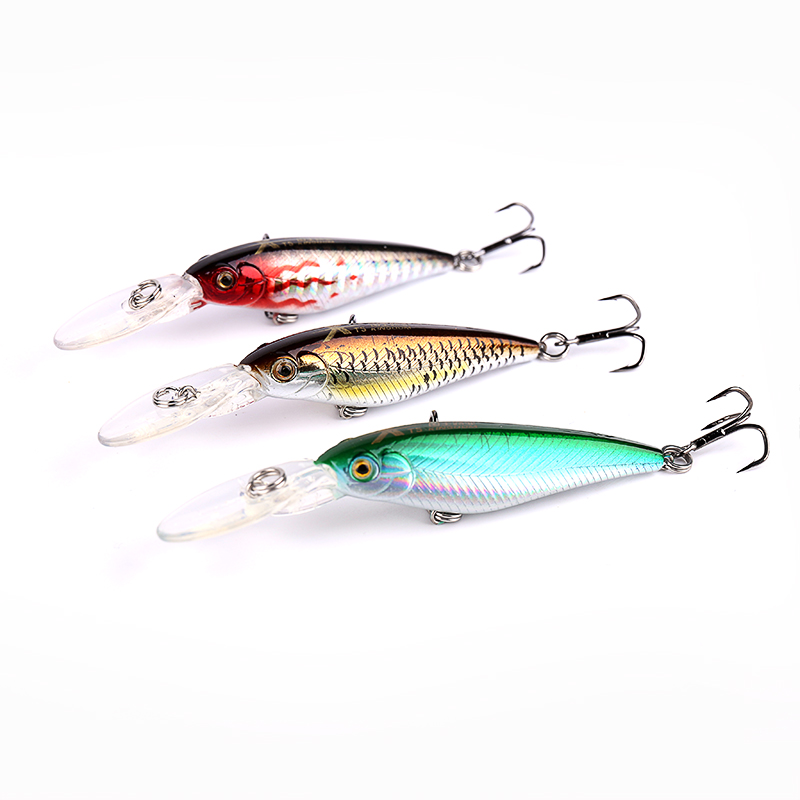high quality 1PCS colorful 6cm 5.6g Hard Bait Minnow streak Fishing lures Bass Fresh water hook diving perch wobbler fish 1 5 4m 10 5g 11cm hard bait minnow fishing lures crankbait wobbler depth dive bass fresh salt water 4 hook
