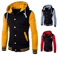 Men's spring and summer men's eight-color hooded sweater jacket baseball shirt sweater cardigan sweater casual baseball uniform