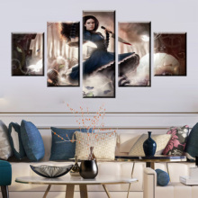 HD Print Video Game 5 Piece Alice Madness Returns Canvas Poster Paintings Modern Pictures Wall Art For Home Decor Framework цена