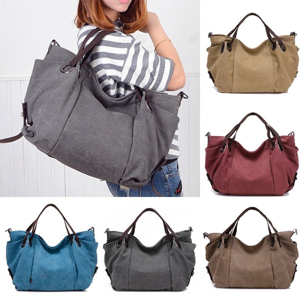 7b477783c9e6 Xiniu Women Canvas Casual Shoulder Bag Fashion Lady Purse Tote Bag ...