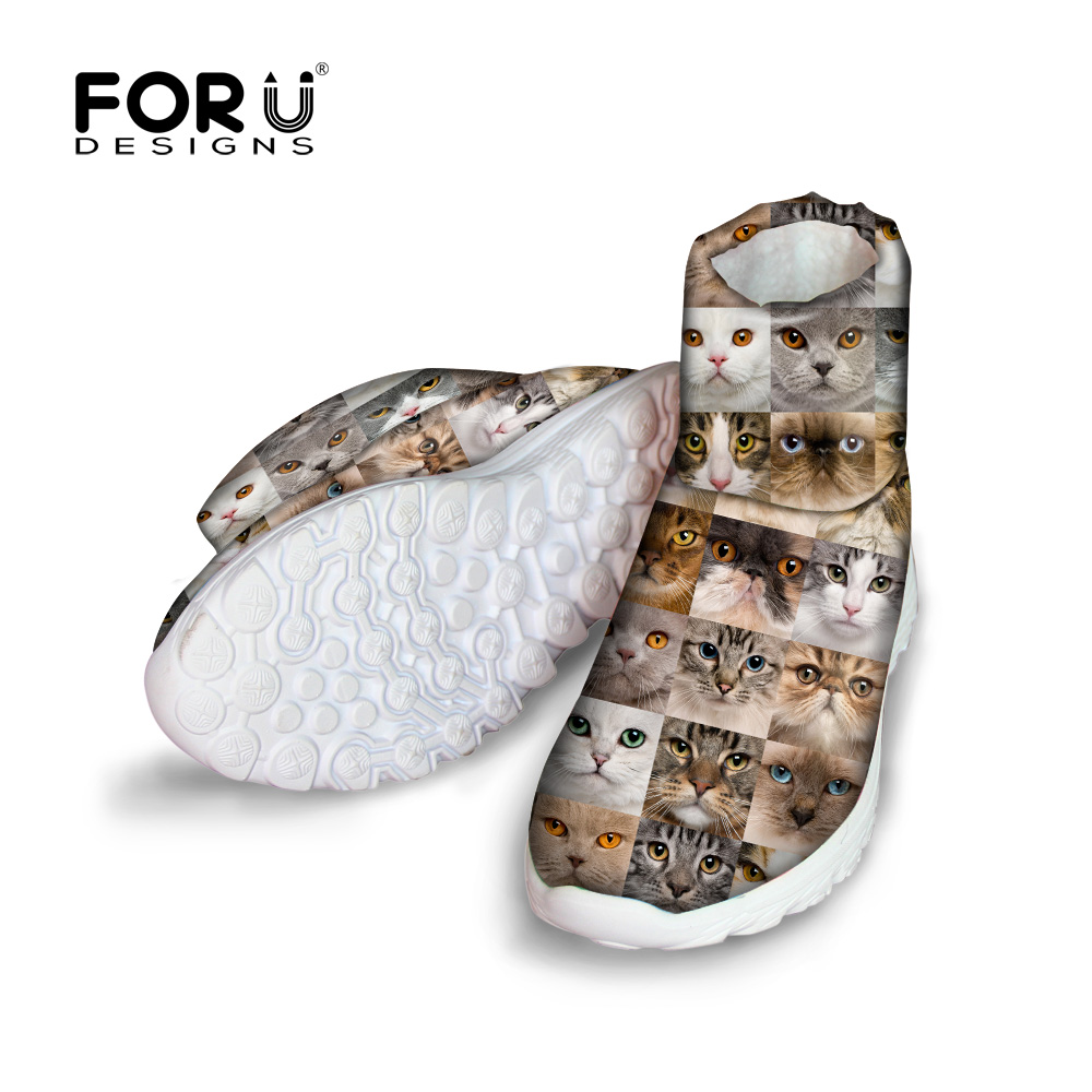 FORUDESIGNS Cute Animal Women Winter Snow Boots 3D Cat Dog Puzzle Pattern Women's High Quality Warm Fur Ankle Boots Female Shoe blackman malorie snow dog