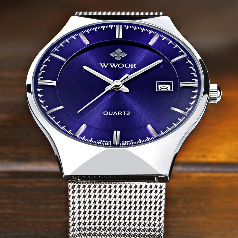 Super slim Quartz Casual Armbandsur Business Top Brand WWOOR - Herrklockor - Foto 3