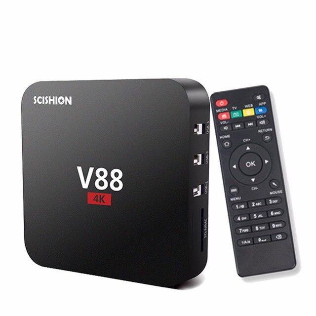 Upslon V88 Android 5.1 Receptor de TV 1080 P RK3229 Quad-Core 1G/8G Apoyo 3D movic Kodi XBMC Miracast DLNA Smart Tv Set Top Box