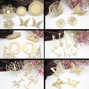 Laser Cutting Wooden Embellishments For Scrapbooking Cardmaking DIY Craft Decor Perfect celebration Party Decor