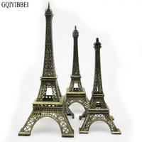 GQIYIBBEI 48cm Art Crafts Bronze Paris Eiffel Tower Model Ornaments Figurine Zinc Alloy Statue Travel Souvenirs Home Decorations