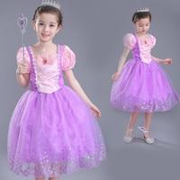 Summer New Cinderella Dress Girls Party Easter Sleeping Beauty Princess Dress Rapunzel Carnival Costume Dress for Children's Day