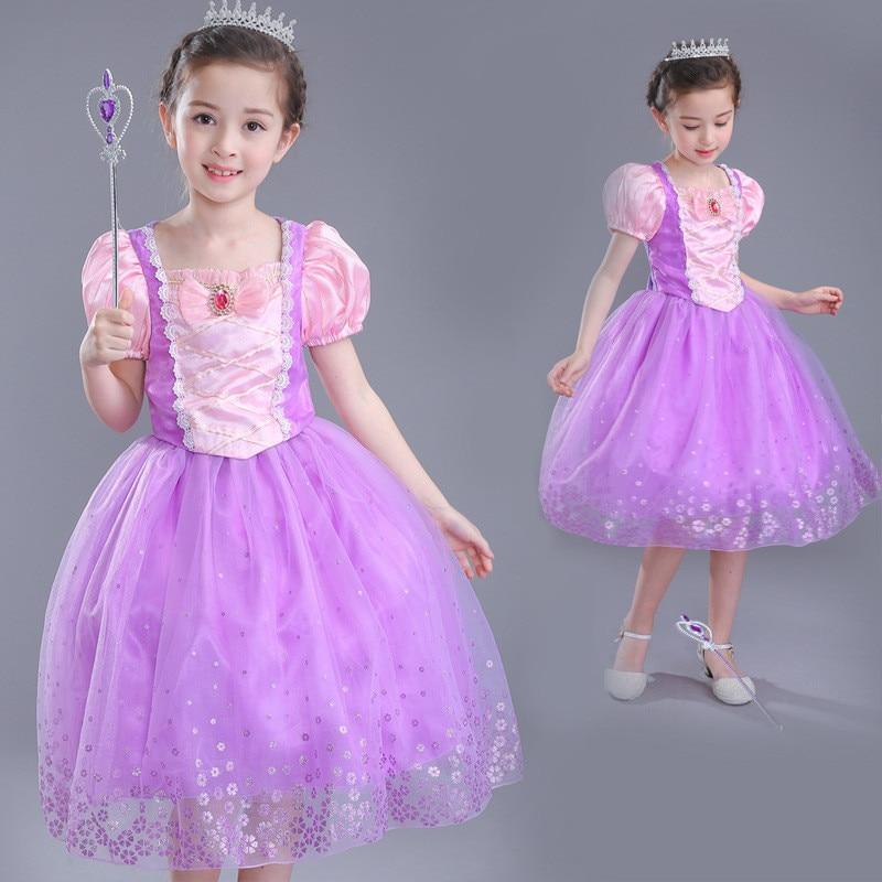 f5aed7a98 Verano nuevo vestido de Cenicienta niñas fiesta de Pascua dormir belleza  princesa vestido Rapunzel ...