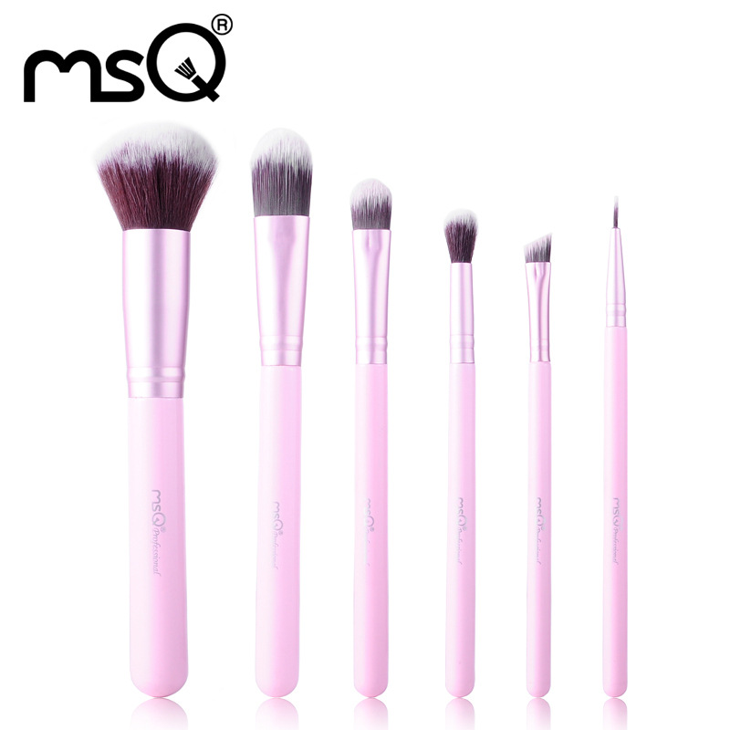 6Pcs/Set Synthetic Hair Brushes Pro Lady Cosmetic Make Up Brush Fashion Powder Foundation Eyeshadow Eyeliner Lip Brushes Kit Hot