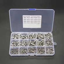 440pcs M3 M4 M5 Hex Socket Screws Stainless Steel Button Head Bolts Nuts Assortment Kit Set With Strong Anti-oxidation 440pcs m3 3mm 304 a2 stainless steel allen bolts hex socket head cap screws wrench nuts assortment kit free shipping screw
