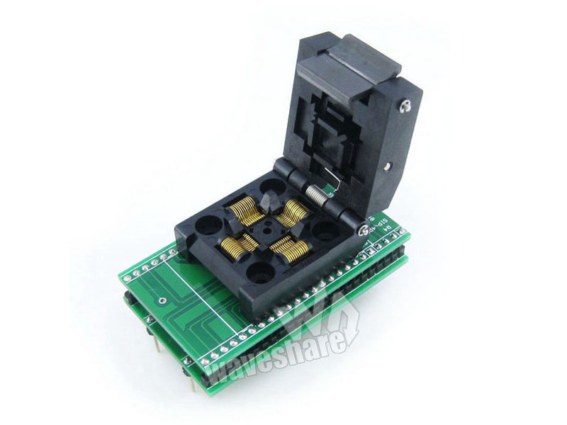 QFP48 0.5mm Programming Block Test Stand Burner Seat IC DIP48 m66291gp 2 m66291 qfp48
