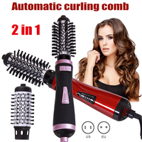 Professional 2 in 1 Hot Air Brush Dryer Curling Rod Hair Styling Tools Automatic Rotating HJL2018 For Styling