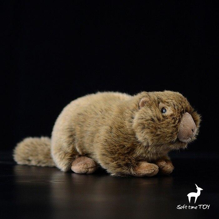 Super Cute  Groundhog Doll  Plush Toy  Simulation Stuffed Animal  Beaver  Kids Toys Gifts