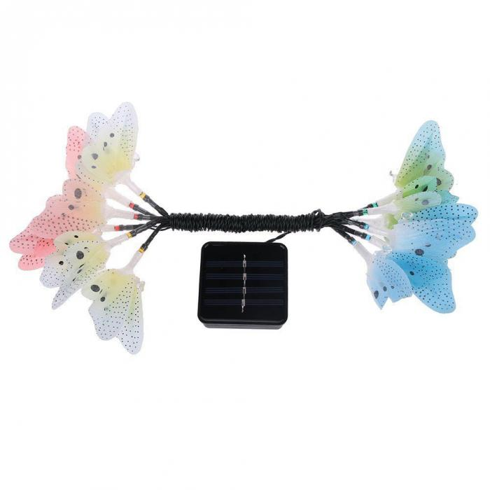 12/20 LEDs Bunte schmetterling Solar Power Licht, Schmetterling ...