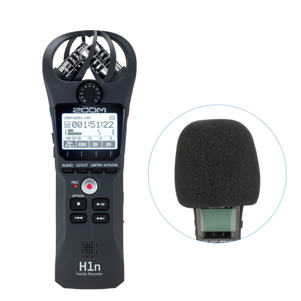 Zoom H1 H1N Handy Digital Voice Recorder Camera Audio XY Stereo Microphone Zoom for Nikon Canon Pentax DSLR SLR Recording рекордер zoom h1n