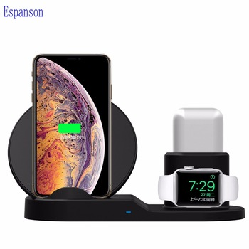 Qi wireless charger Pad for apple watch iwatch 1234 for iphone XS Max R 8 plus help 7.5w support fast charge repair for Airpods