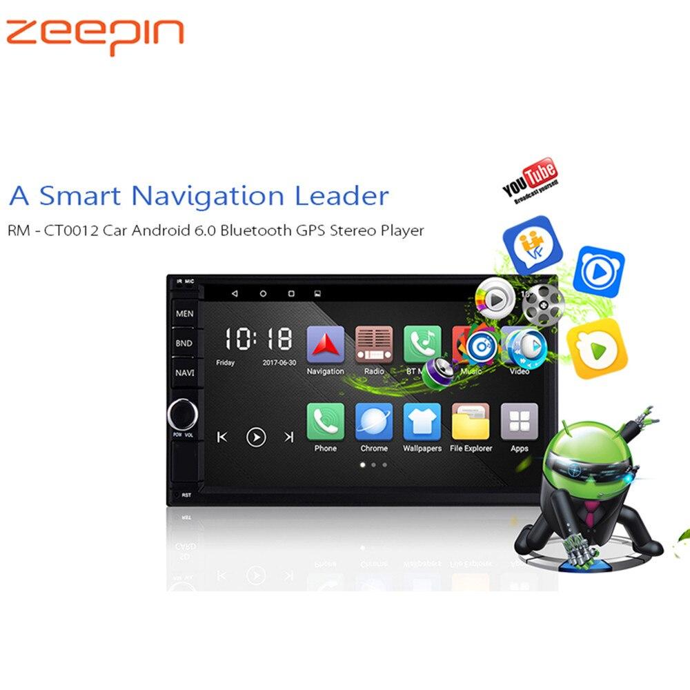 Автомобильный мультимедийный плеер Android 2 Din Bluetooth gps WiFi плеер Авто радио с fm-радио зеркальная Ссылка/рулевое колесо управление