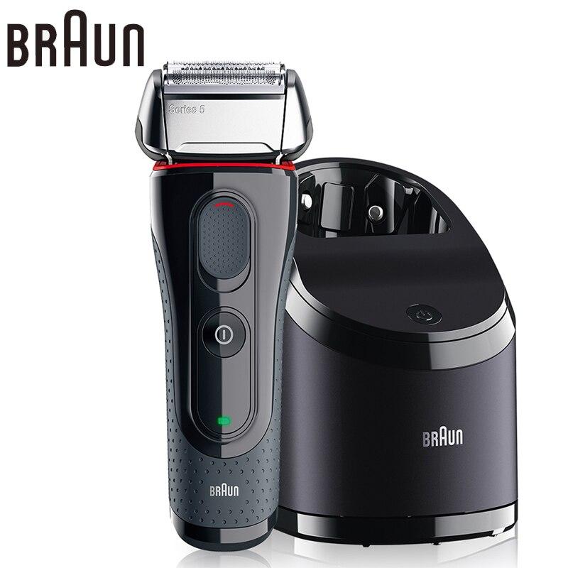 Braun Electric Shaver 5050cc Safety Waterproof shaving Razor Popular Styling Tools For Men Shaving Electric safety Razor merkur 45 bakelite safety razor travel set