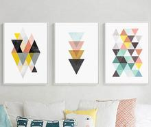 Nordic Geometric Poster Print Scandinavian Canvas Painting For Living Room Wall Art Pictures Modern Posters Home Decor No Frame