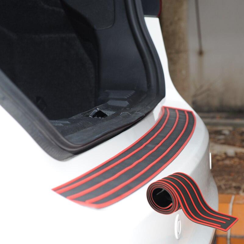 104CM RUBBER CAR REAR BUMPER PROTECTOR TRUNK SILL PLATE GUARD SCRATCH GUARD PAD