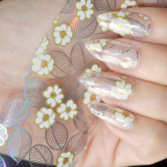1 Meterbox Nail Wholesale Products Nail Art Diy Decal Yellow Flower