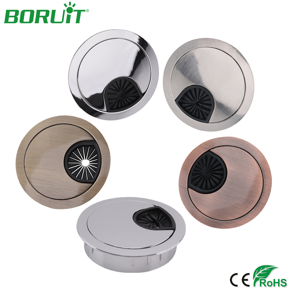 5 Pcs Home Office Desk Table Computer 60mm Cable Cord Grommet Hole Furniture Accessories