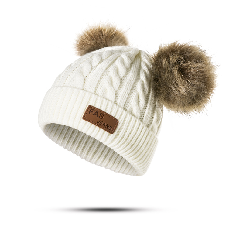a4e5c66b57b Dropwow MOLIXINYU Children Winter Hat For Girls Knitted Baby Boys ...