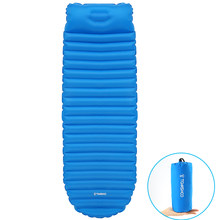 TOMSHOO Inflatable Sleeping Pad Camping Mat Thick Sleeping Bed with Built-in Pillow Moistureproof Air Mattress Cushion Beach Mat(China)