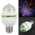 AC85V-265V 3W E27 RGB Crystal Ball Stage Light Auto Rotating LED Stage Light Bulbs Disco DJ Holiday Party Bulb Lamp FreeShipping