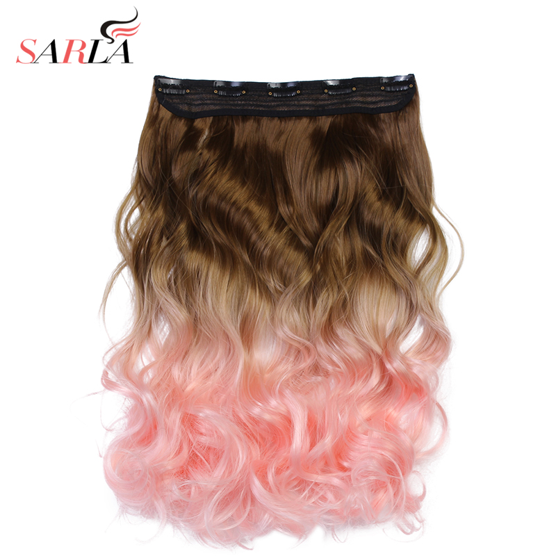SARLA Ombre Βραζιλιάνικο μακρύ κλιπ σε - Συνθετικά μαλλιά - Φωτογραφία 3