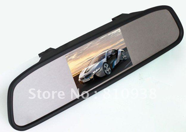 Universal 4.3 Inch Color TFT LCD Display Screen 640x480 Car Parking Rear View Reverse Mirror Monitor for Camera,Free Shipping