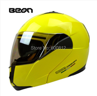 BEON Visor Exposing Double Lens Motocross Undrape Face Motorcycle Helmet Winter Open Face Racing Helmets Ran