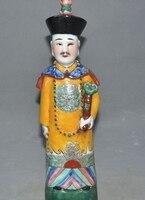 """Ev ve Bahçe'ten Statü ve Heykelleri'de 12 """"Antika Çin Eski Wucai Porselen sır Ruyi Saray Yetkilileri Heykeli Tutun"""