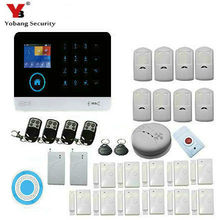 Yobang Security Wireless WIFI Home GSM GPRS RFID Security Alarm With  Wireless indoor Siren and Shock Sensor Smoke Detector